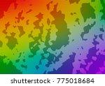 vector abstract doodle... | Shutterstock .eps vector #775018684