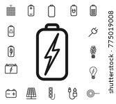 battery charging. thin line...   Shutterstock .eps vector #775019008