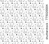 vector pattern with black and... | Shutterstock .eps vector #775020004