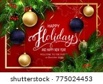 holidays greeting card for... | Shutterstock .eps vector #775024453