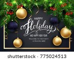holidays greeting card for... | Shutterstock .eps vector #775024513