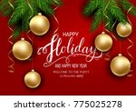 holidays greeting card for... | Shutterstock .eps vector #775025278
