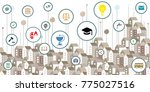 vector illustration of public... | Shutterstock .eps vector #775027516