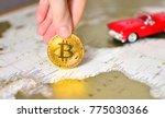 bitcoin and world travel... | Shutterstock . vector #775030366
