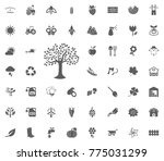 tree icon. gardening and tools... | Shutterstock .eps vector #775031299