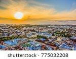 lviv  ukraine  city panorama... | Shutterstock . vector #775032208