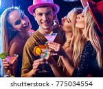 dance party with group people... | Shutterstock . vector #775034554