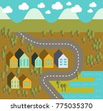 illustration country  map  | Shutterstock .eps vector #775035370