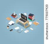 vector isometric concept... | Shutterstock .eps vector #775037920