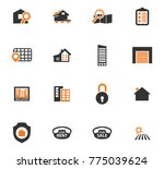 real estate vector icons for... | Shutterstock .eps vector #775039624