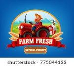 farm product banner | Shutterstock .eps vector #775044133