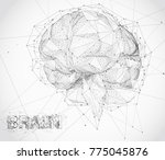 three dimensional vector cyber... | Shutterstock .eps vector #775045876