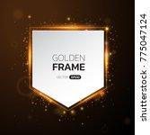 golden frame with lights... | Shutterstock .eps vector #775047124