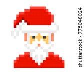 santa claus pixel art cartoon...   Shutterstock .eps vector #775048024