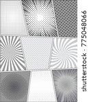 comic monochrome templates set...   Shutterstock .eps vector #775048066