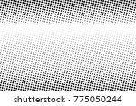 abstract monochrome halftone... | Shutterstock .eps vector #775050244