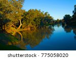 reflections on the macquarie... | Shutterstock . vector #775058020