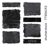set of various black and gray...   Shutterstock .eps vector #77506192