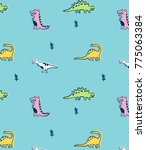 hand drawn pattern and... | Shutterstock .eps vector #775063384
