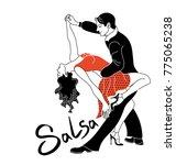 salsa party dance poster... | Shutterstock .eps vector #775065238