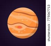 jupiter planet vector... | Shutterstock .eps vector #775067713