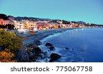 glimpse of celle ligure  italy | Shutterstock . vector #775067758