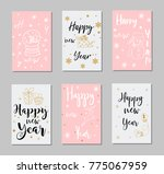 new year and merry christmas... | Shutterstock .eps vector #775067959