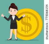 business women standing with... | Shutterstock .eps vector #775068154