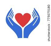 hand logo icon charity | Shutterstock .eps vector #775075180