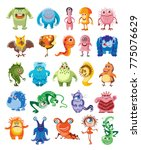 cute monsters set  cartoon... | Shutterstock .eps vector #775076629
