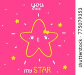 cute star with text  girl ... | Shutterstock .eps vector #775079353