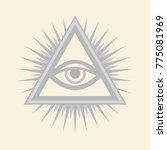 all seeing eye of god  the eye... | Shutterstock .eps vector #775081969