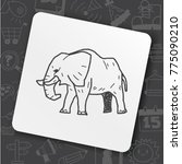 art icon link drawn doodle idea ... | Shutterstock .eps vector #775090210