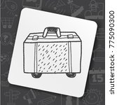 art icon link drawn doodle idea ... | Shutterstock .eps vector #775090300