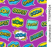 seamless colorful pattern with... | Shutterstock .eps vector #775099024