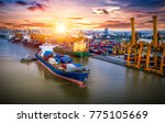 logistics and transportation of ... | Shutterstock . vector #775105669