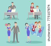business people with bullying... | Shutterstock .eps vector #775107874