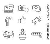 brand ambassador thin line... | Shutterstock .eps vector #775109290