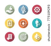 target market icons of buyer... | Shutterstock .eps vector #775109293