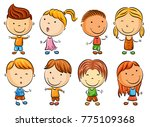 vector illustration of happy... | Shutterstock .eps vector #775109368