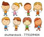 happy kid cartoon | Shutterstock . vector #775109404