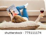 fashionable woman. blond slim... | Shutterstock . vector #775111174