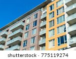 modern condo buildings with... | Shutterstock . vector #775119274