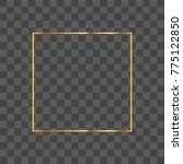 realistic square frame with... | Shutterstock .eps vector #775122850