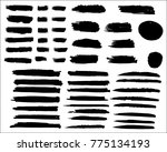 collection of hand drawn grunge ... | Shutterstock .eps vector #775134193