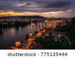 prague landscape view  | Shutterstock . vector #775135444