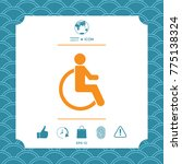 wheelchair handicap icon | Shutterstock .eps vector #775138324