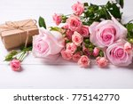 pink roses flowers  and ...   Shutterstock . vector #775142770