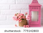 pink roses flowers and...   Shutterstock . vector #775142803