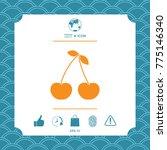 cherry symbol icon | Shutterstock .eps vector #775146340